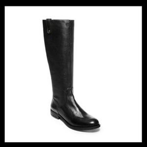 "Steve Madden ""asabby"" black leather boots"